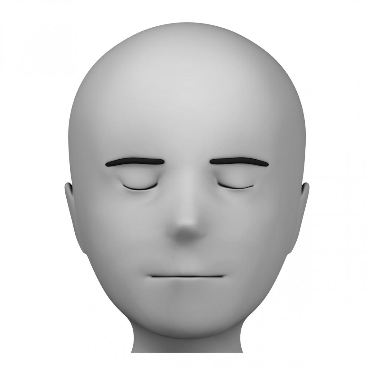 Imagen del verbo cerrar los ojos
