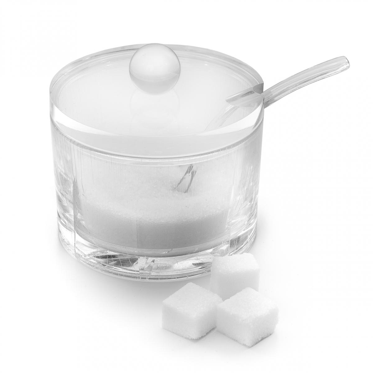Imagen en la que se ve un azucarero con cucharilla