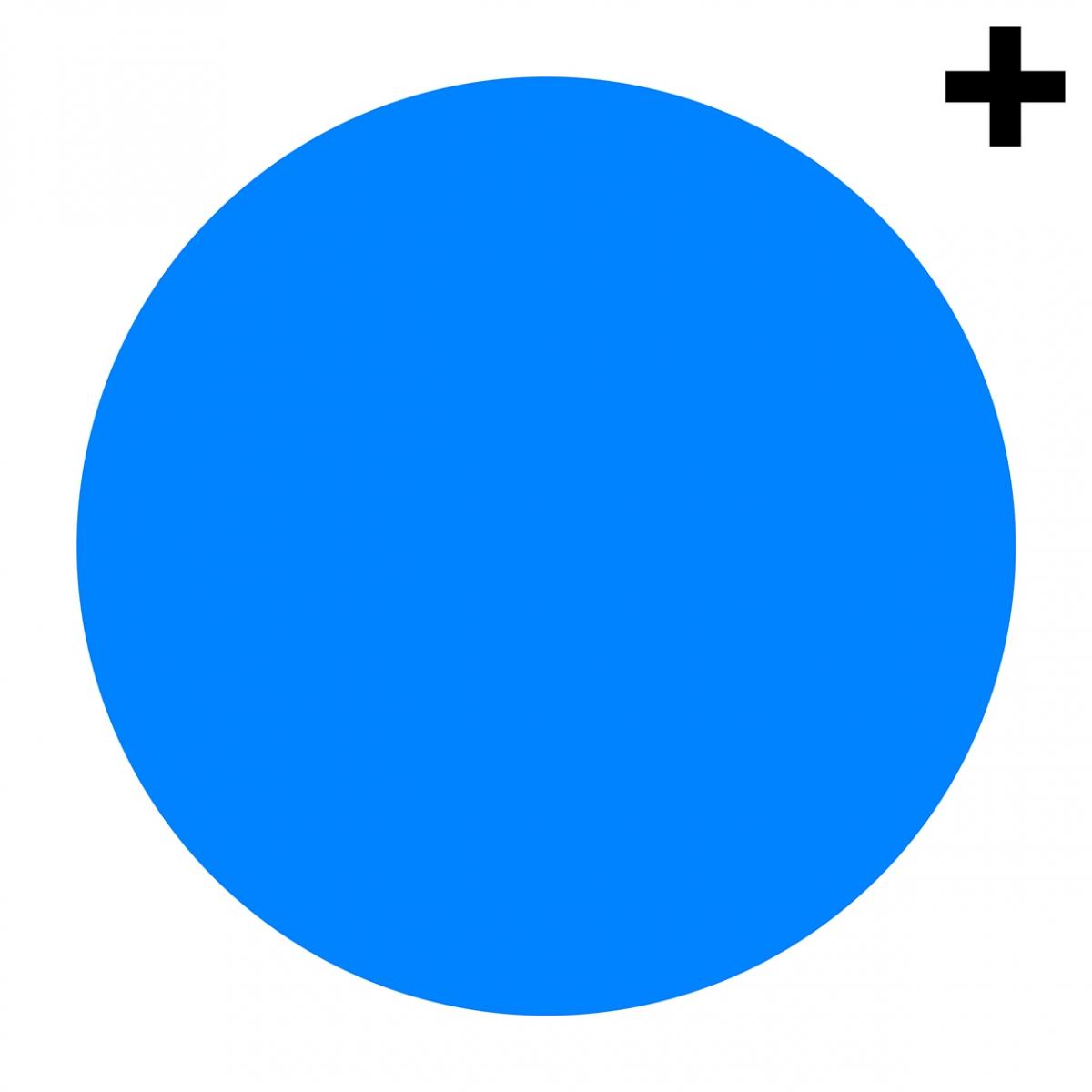 Imagen en la que se ve un círculo de color azul