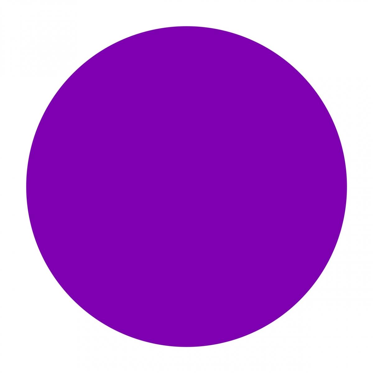 Imagen en la que se ve un círculo de color morado