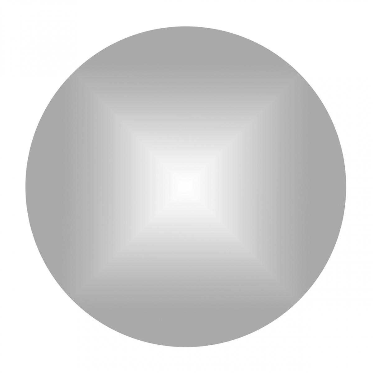 Imagen en la que se ve un círculo de color plateado