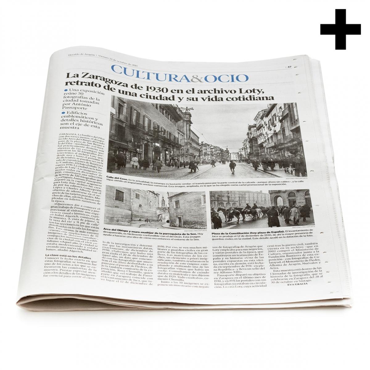 Imagen en la que se ve un periódico mostrando su portada