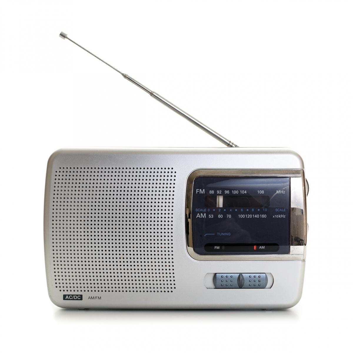 Imagen en la que se ve una radio