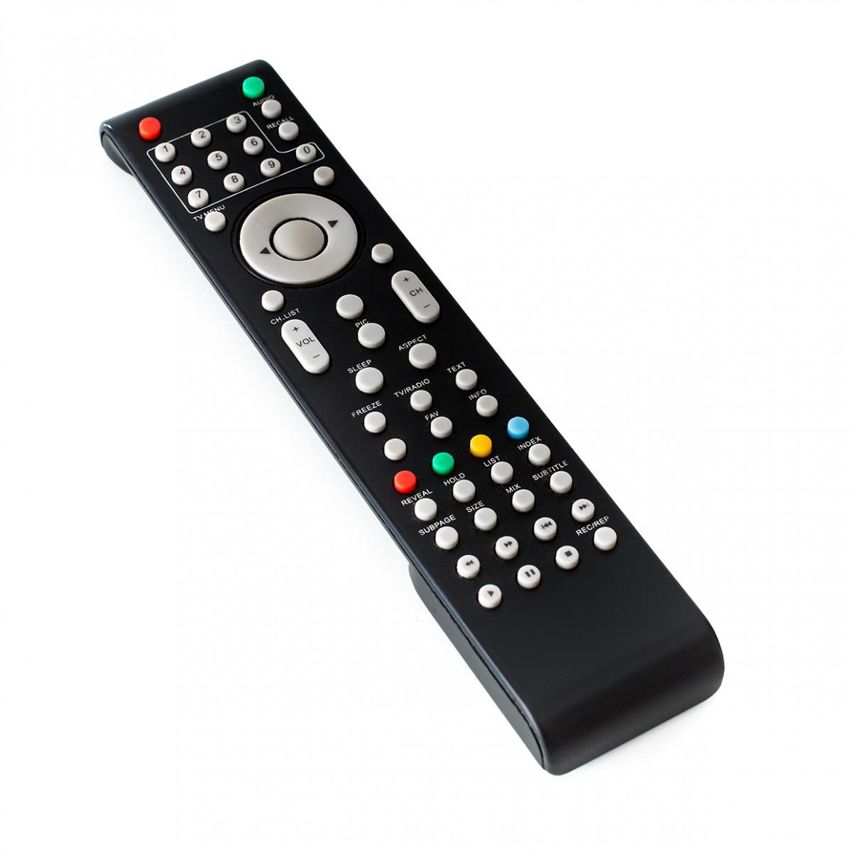 Imagen en la que se ve un mando de un televisor
