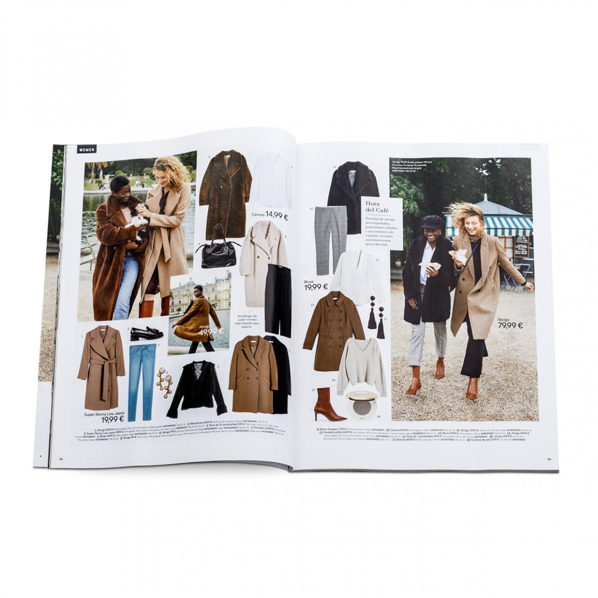 Imagen en la que se ve un catálogo de ropa