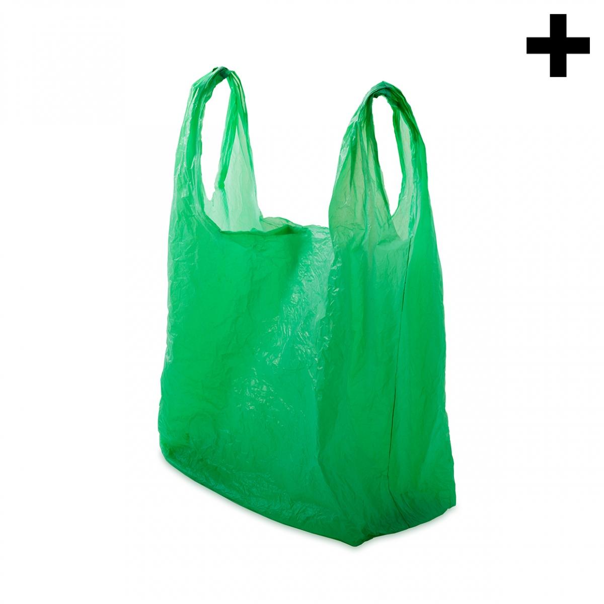 Imagen en la que se ve el plural del concepto bolsa de plástico