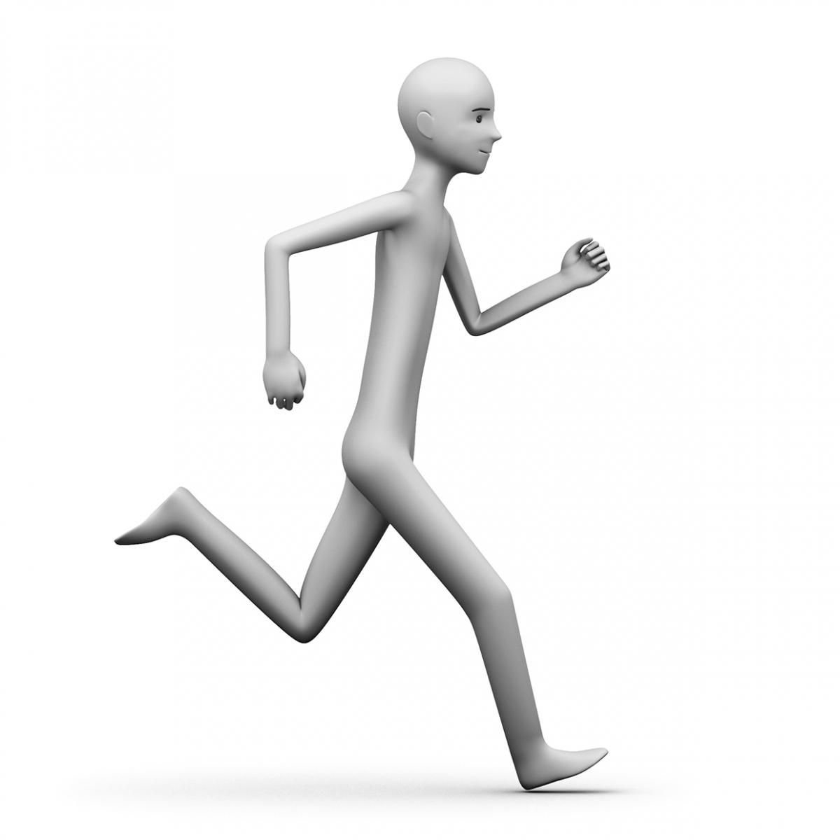 Imagen del verbo correr