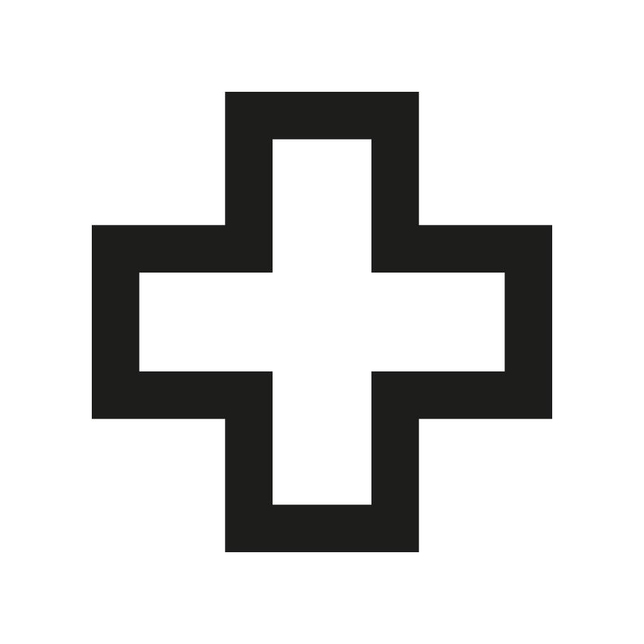 Imagen en la que se ve una cruz con el trazo en color negro