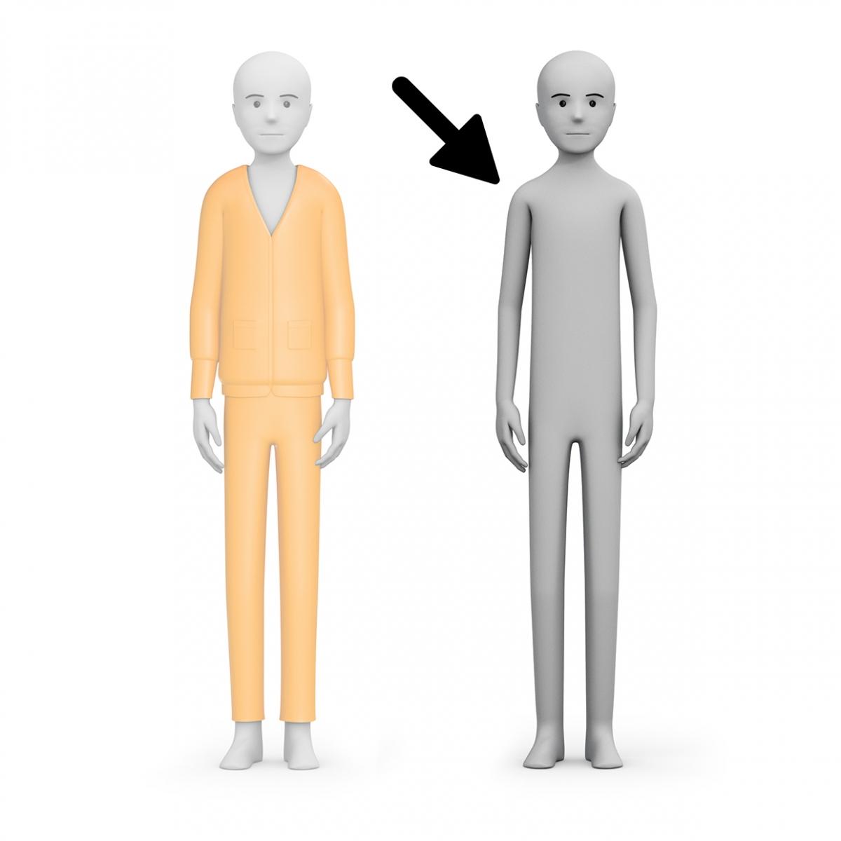 Imagen en la que se ve una persona sin ropa