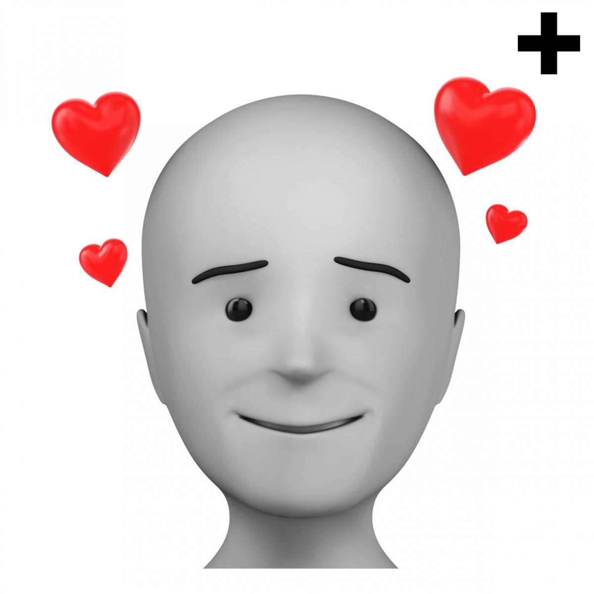 Imagen en la que se ve el plural del concepto enamorado