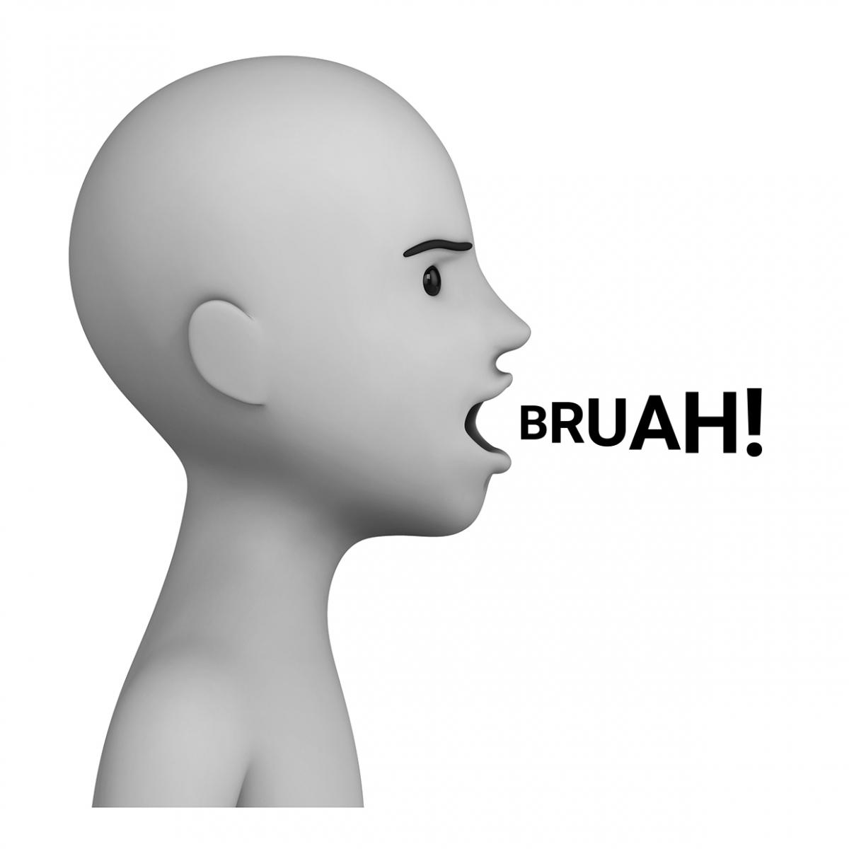Imagen del verbo eructar