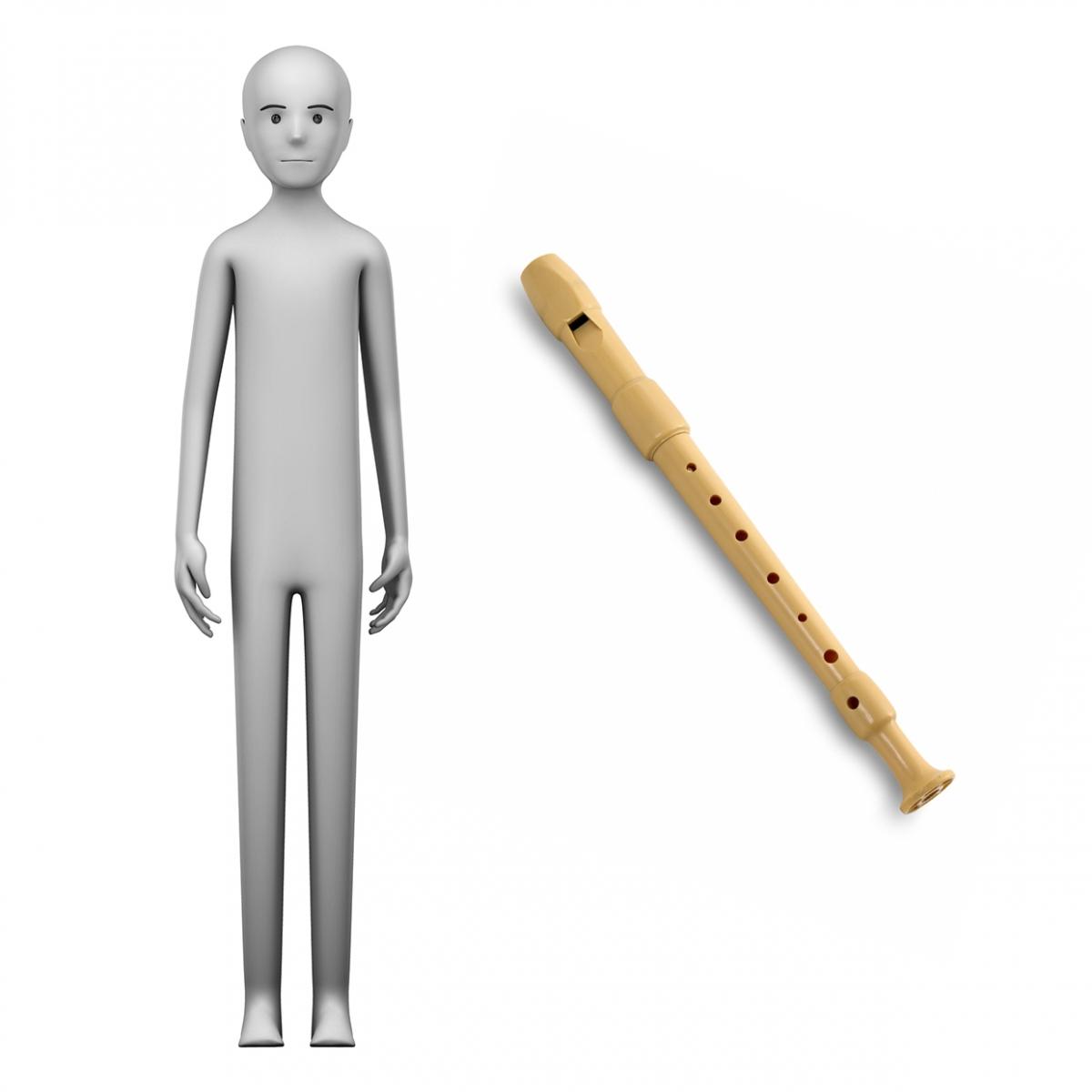 Imagen en la que se ve el concepto de flautista