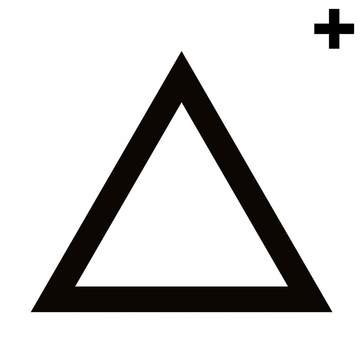 Imagen en la que se ve un triángulo con el trazo en color negro