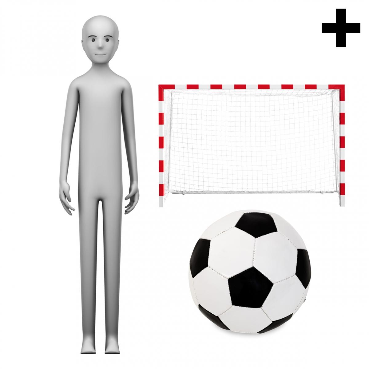 Imagen en la que se ve el plural del concepto futbolista