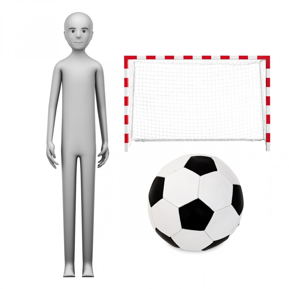 Imagen en la que se ve el concepto de profesión futbolista