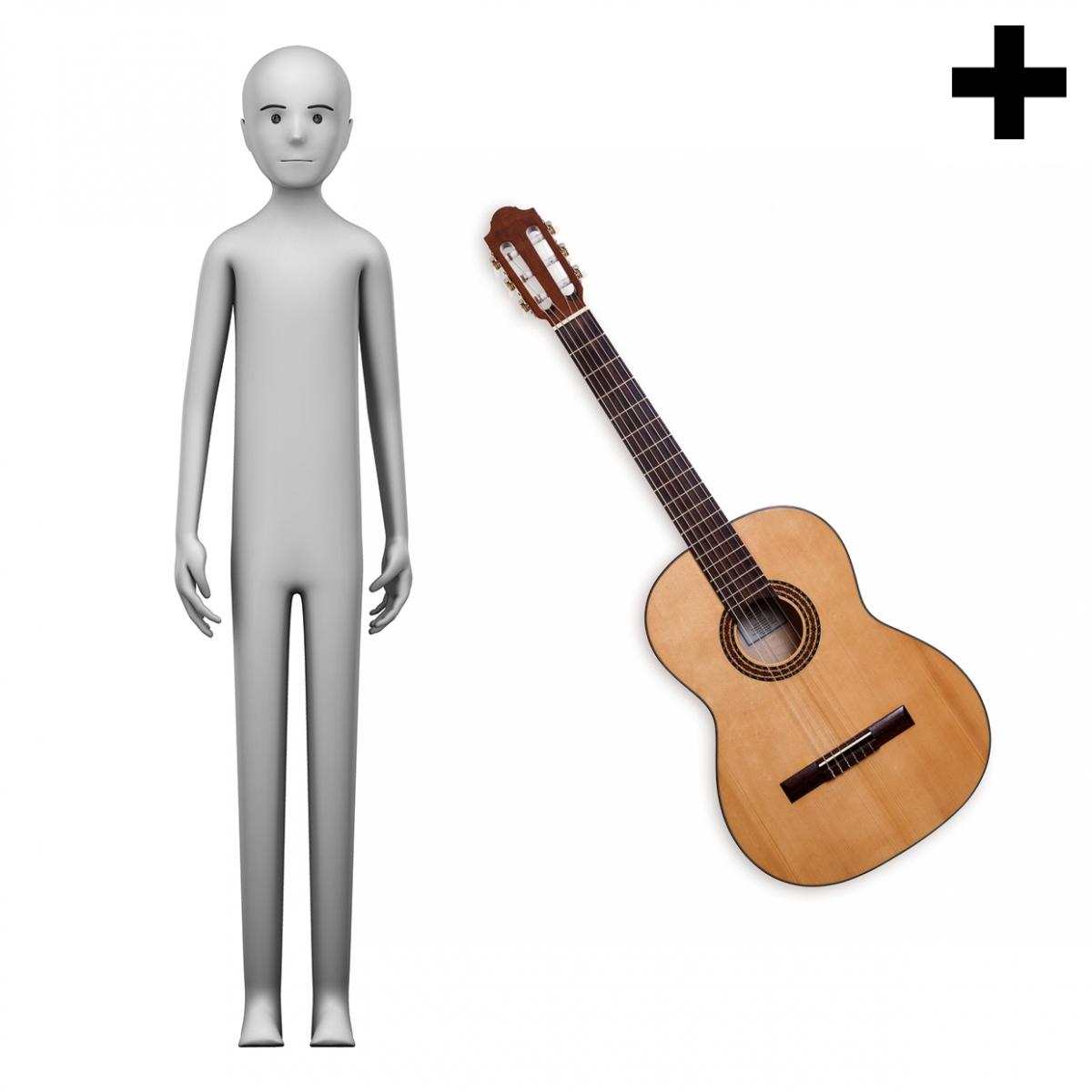 Imagen en la que se vel plural del concepto guitarrista