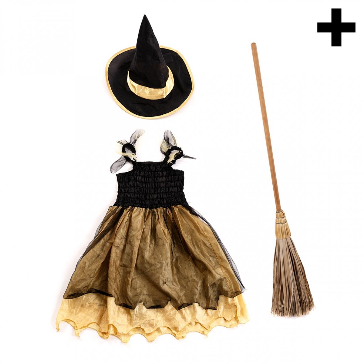 Imagen en la que se ve el plural del concepto disfraz de bruja