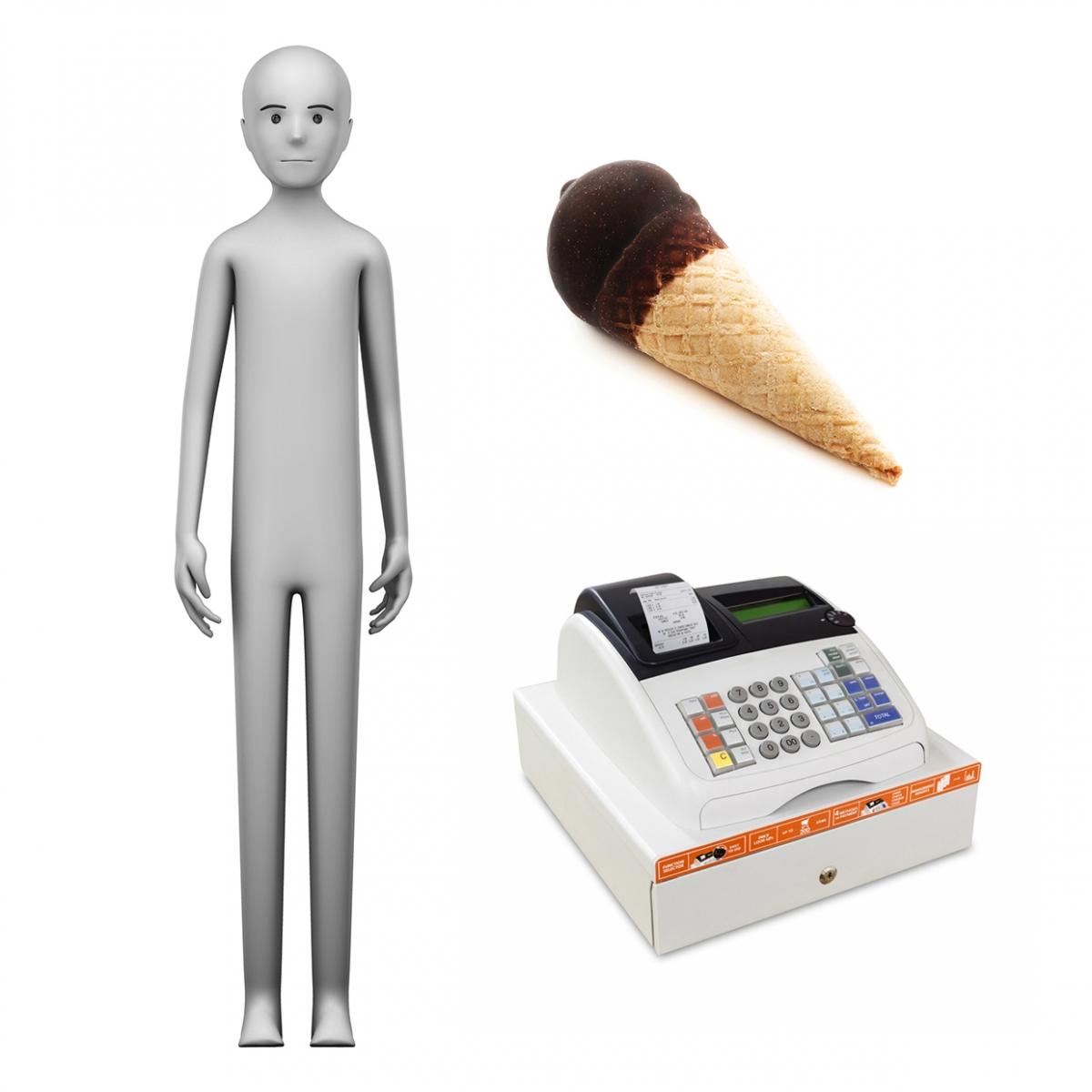 Imagen en la que se ve el concepto de heladero o heladera