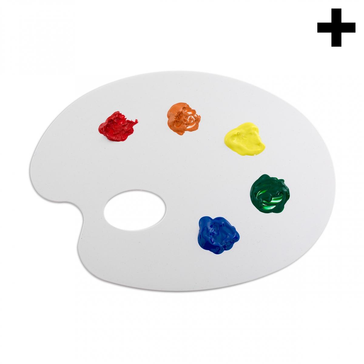 Imagen en la que se ve el plural del concepto paleta de pintor