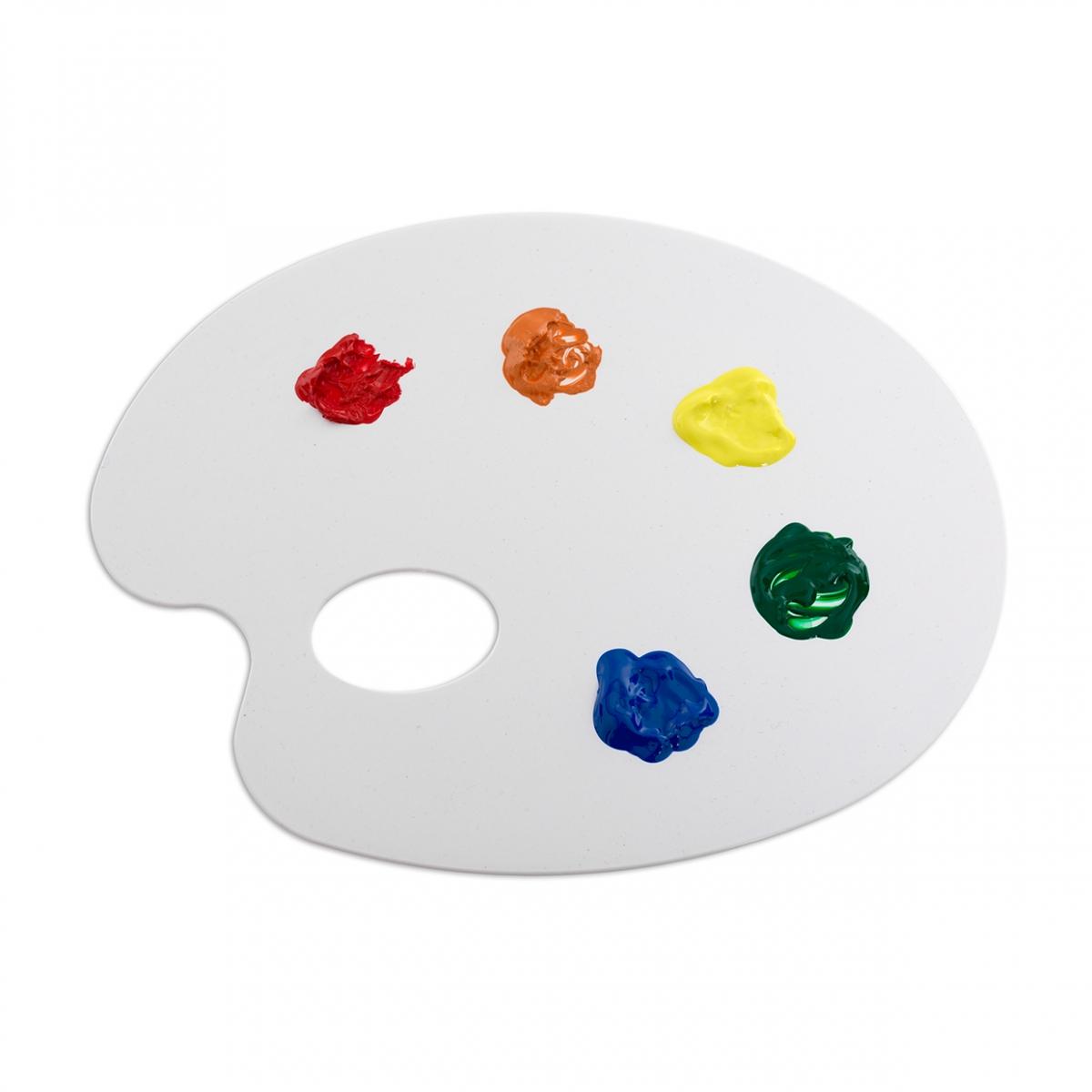 Imagen en la que se ve una paleta de pintor