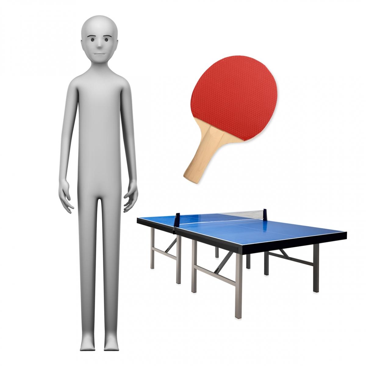 Imagen en la que se ve el concepto jugador de ping pong