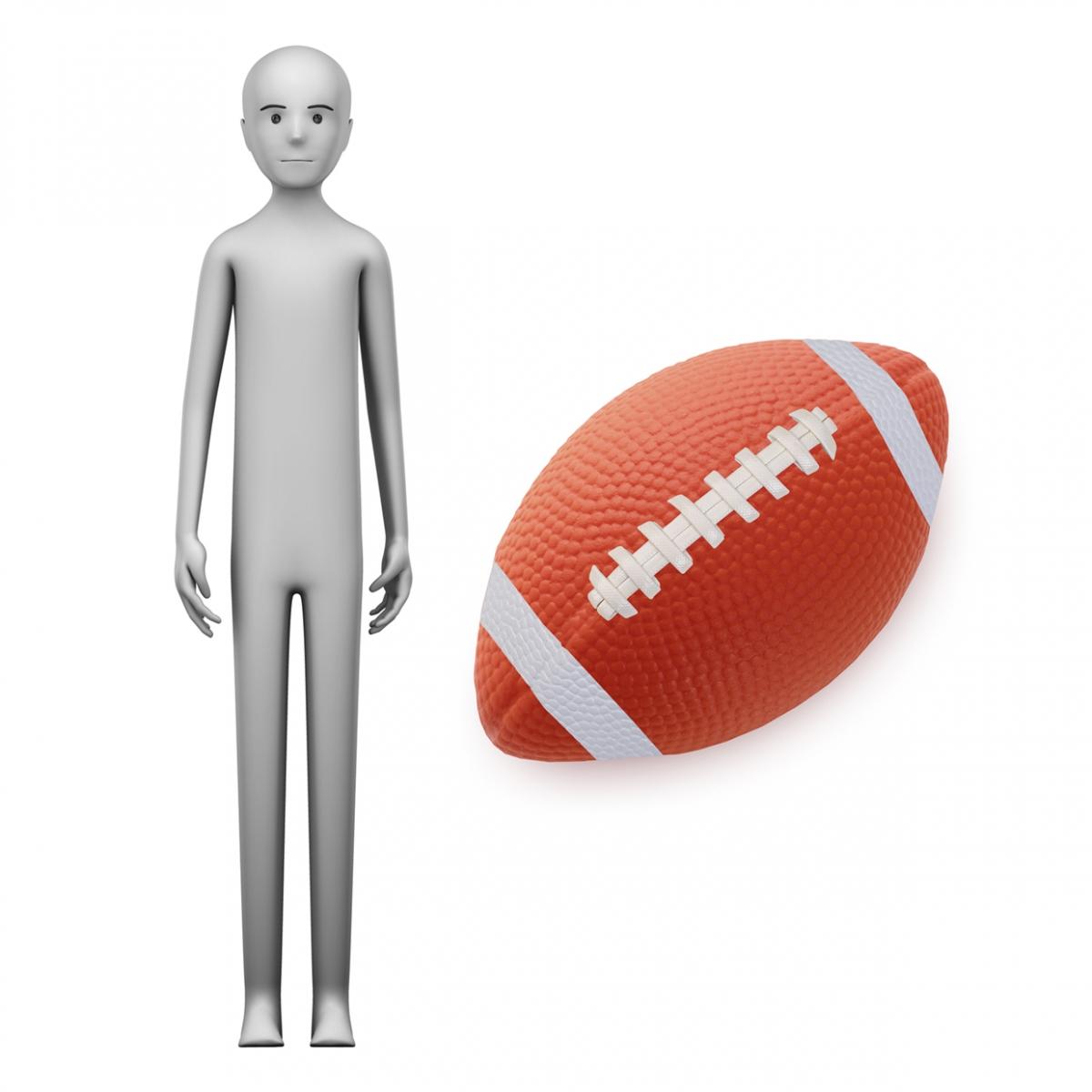 Imagen en la que se ve el concepto jugador de rugby