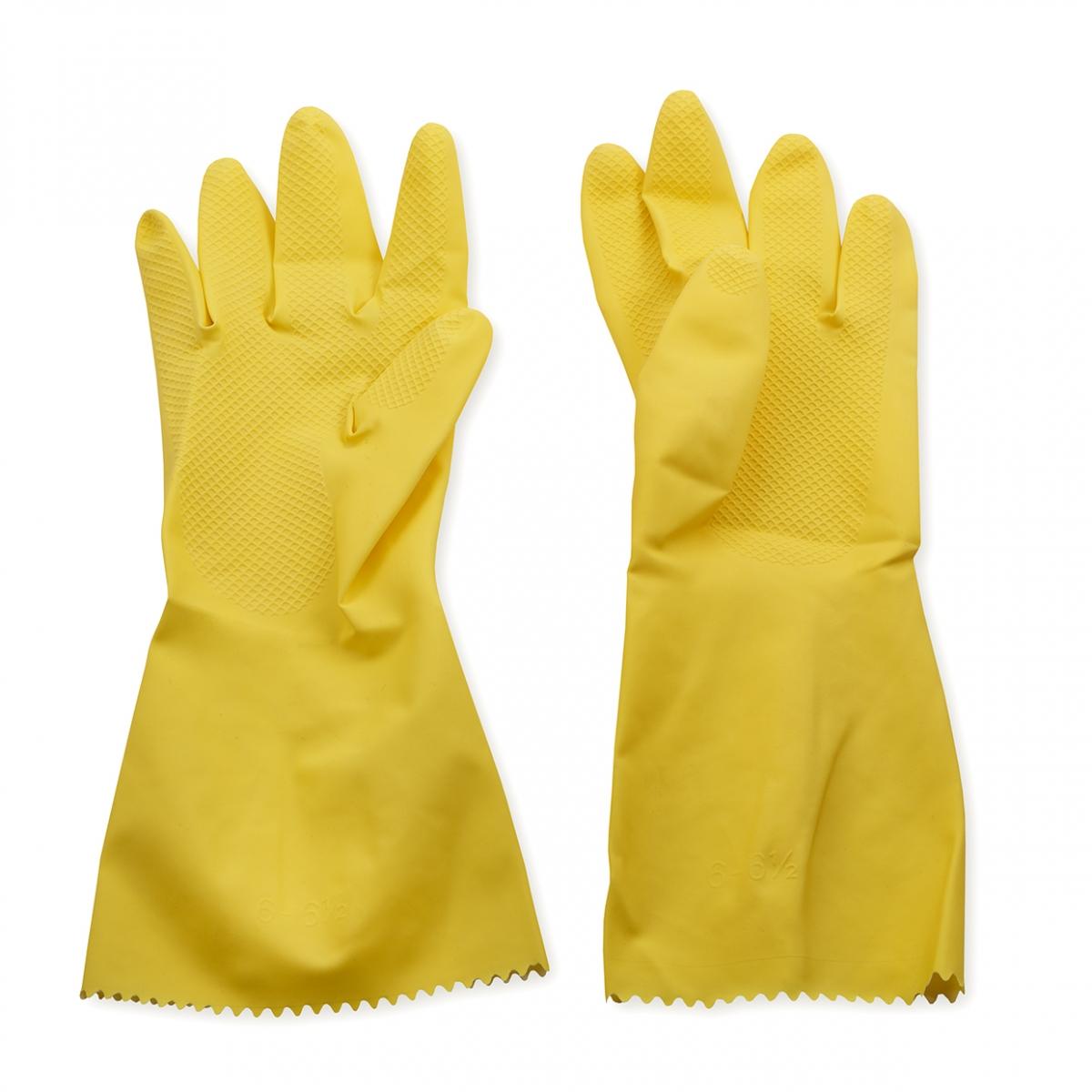 Imagen en la que se ven un par de guantes de limpieza