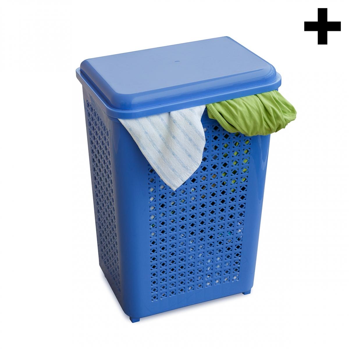 Imagen en la que se ve el plural del concepto cubo de la ropa sucia