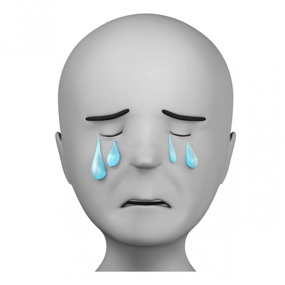 Persona llorosa