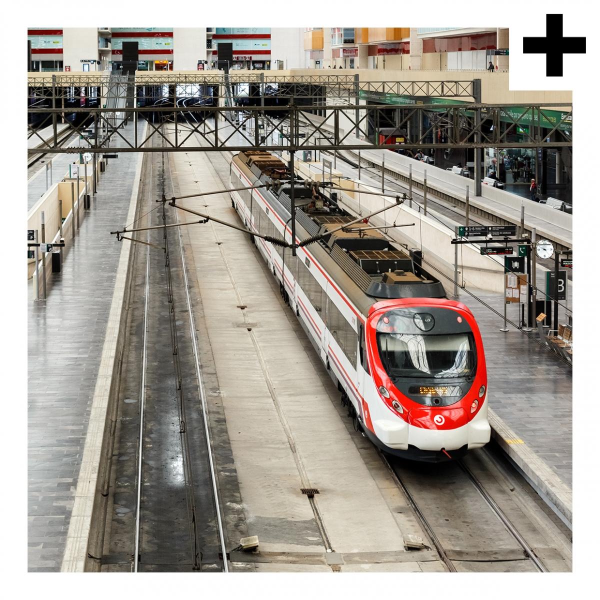 Imagen en la que se ve el plural del concepto estación de tren
