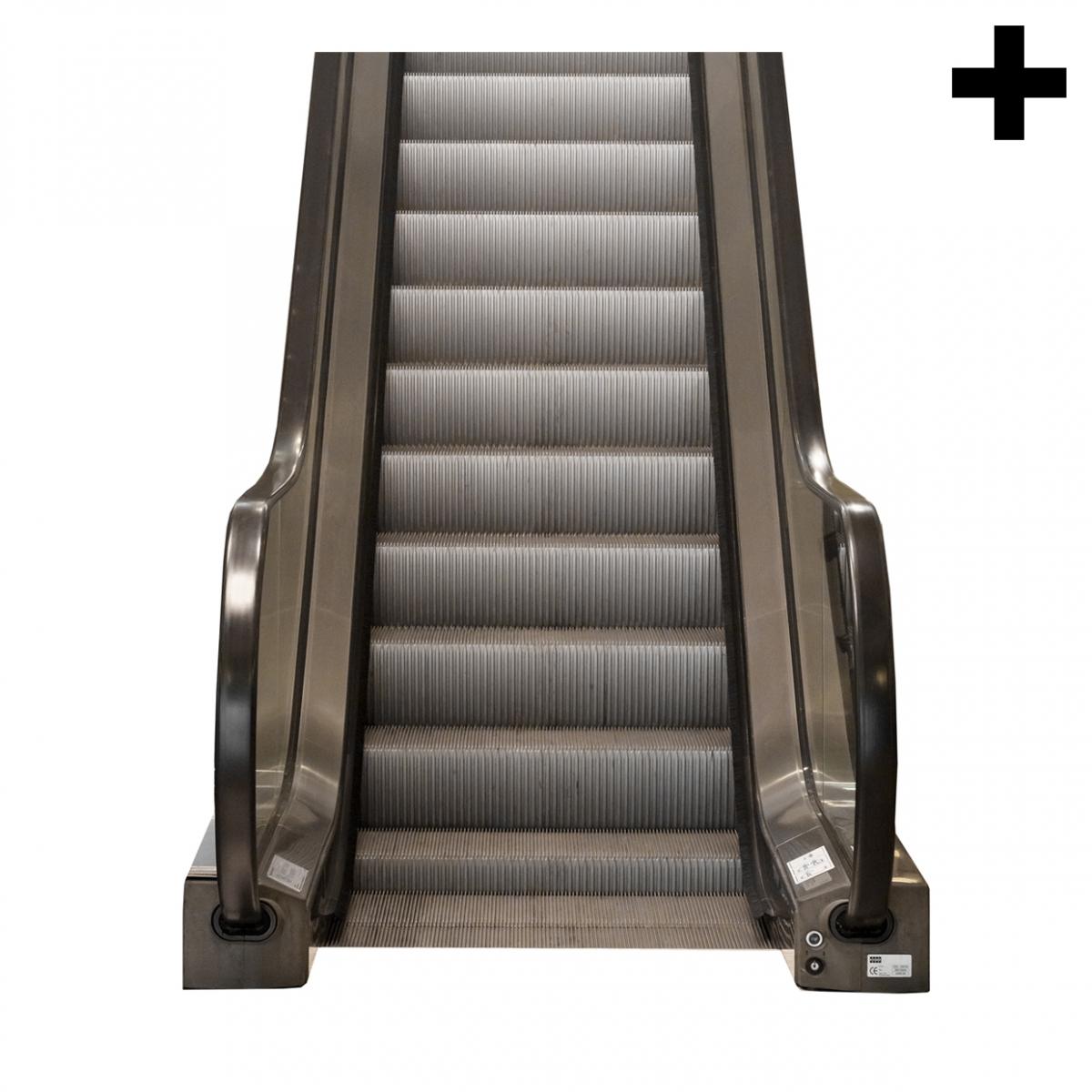 Imagen en la que se ve el plural del concepto escalera mecánica