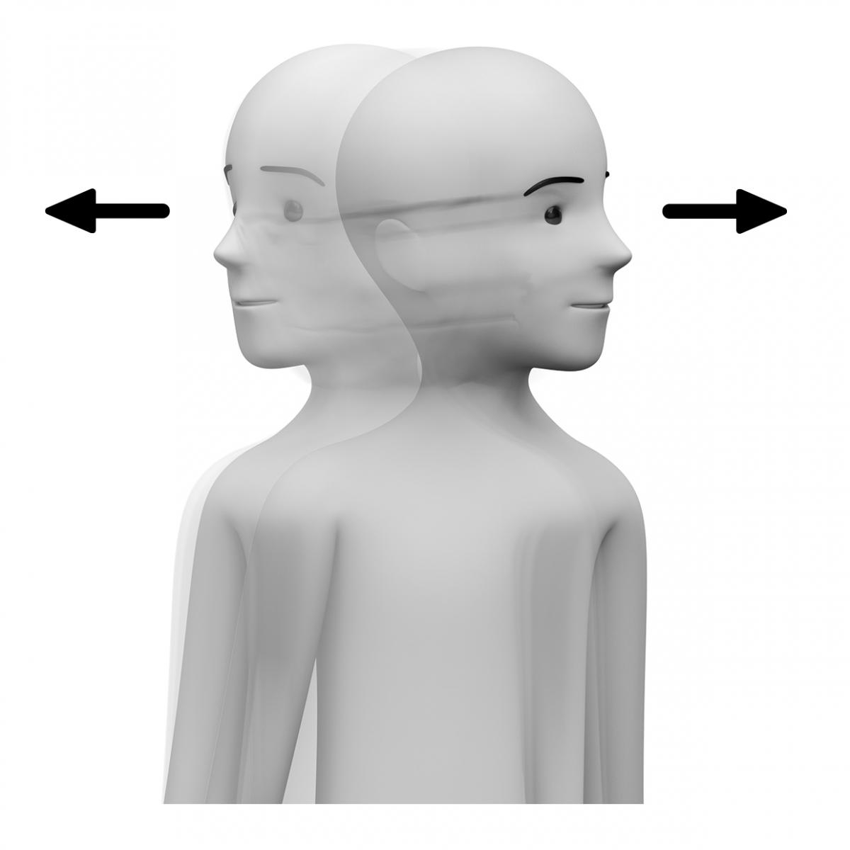 Una persona mira a ambos lados
