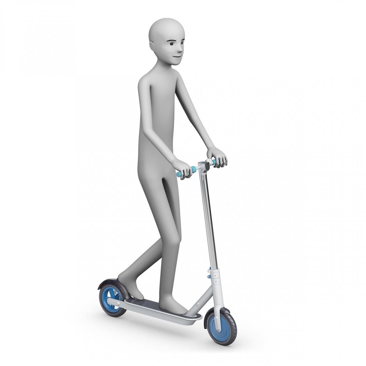 Imagen en la que se ve a una persona montando en patinete