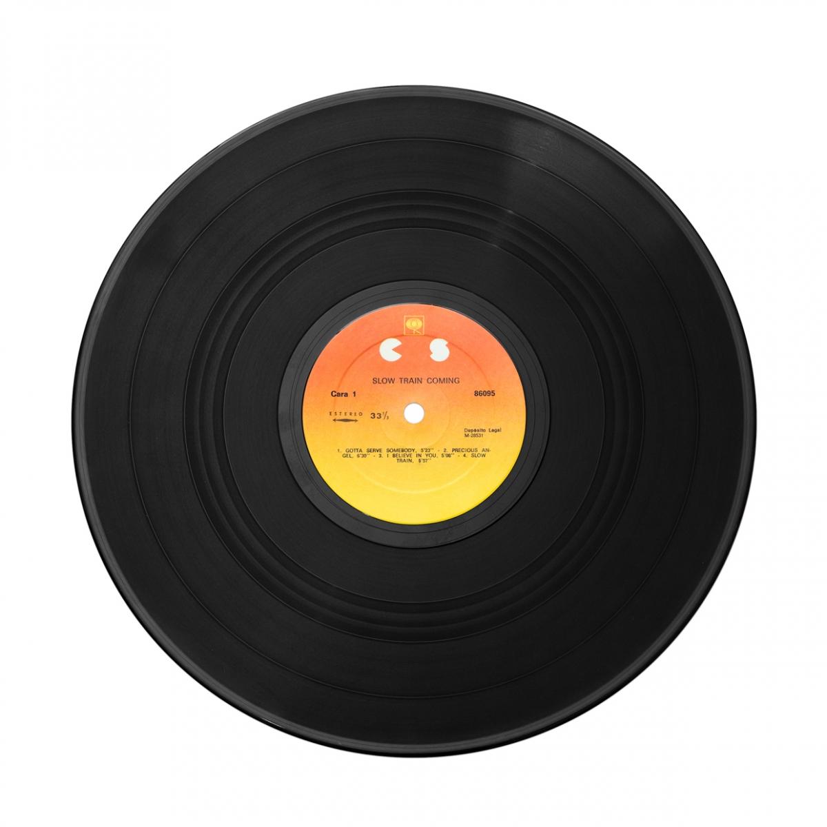 Imagen en la que se ve un disco de vinilo