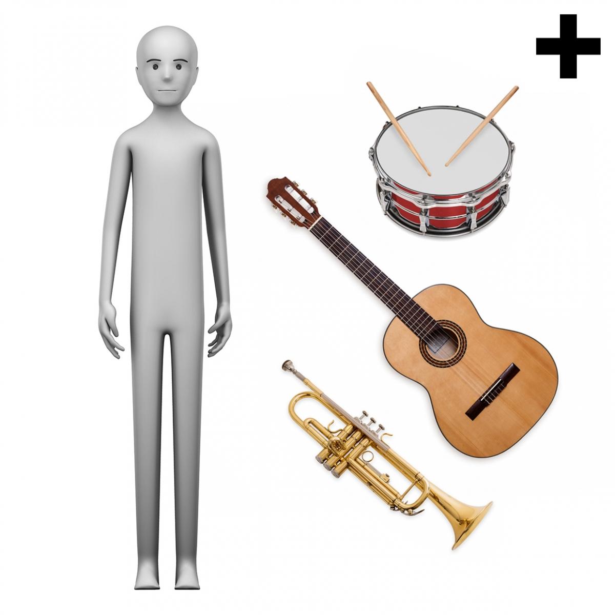 Imagen en la que se ve el plural del concepto músico o música