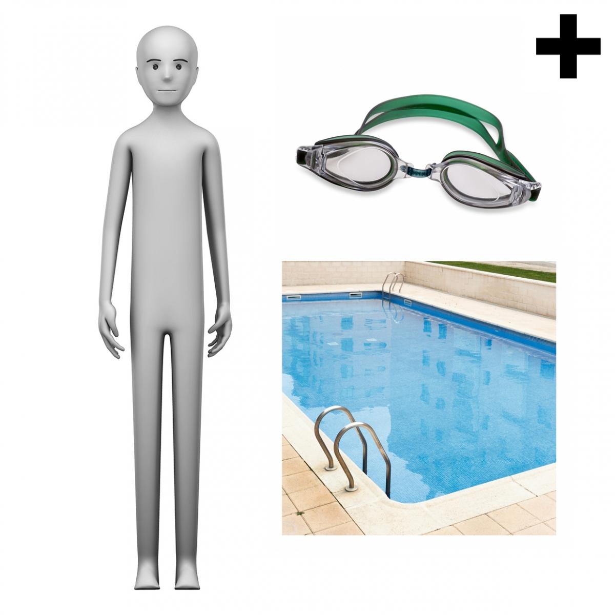 Imagen en la que se ve el plural del concepto nadador o nadadora