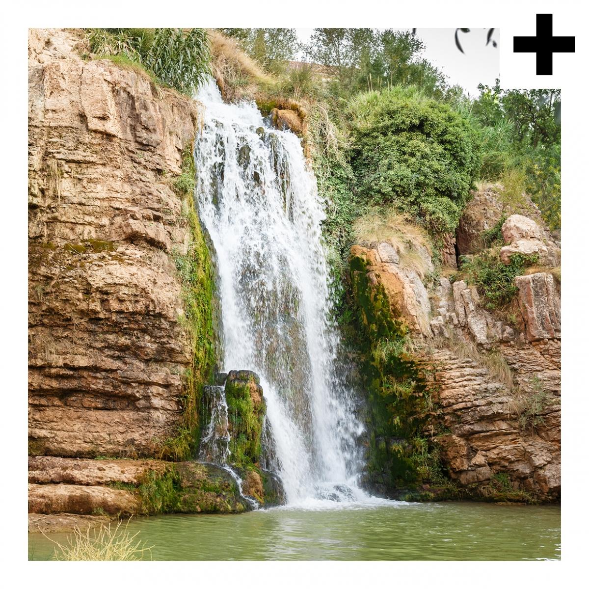 Imagen en la que se ve el plural del concepto cascada