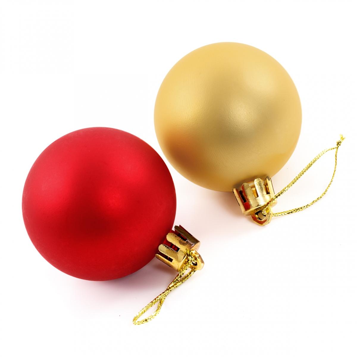 Imagen en la que se ven dos bolas del árbol de Navidad