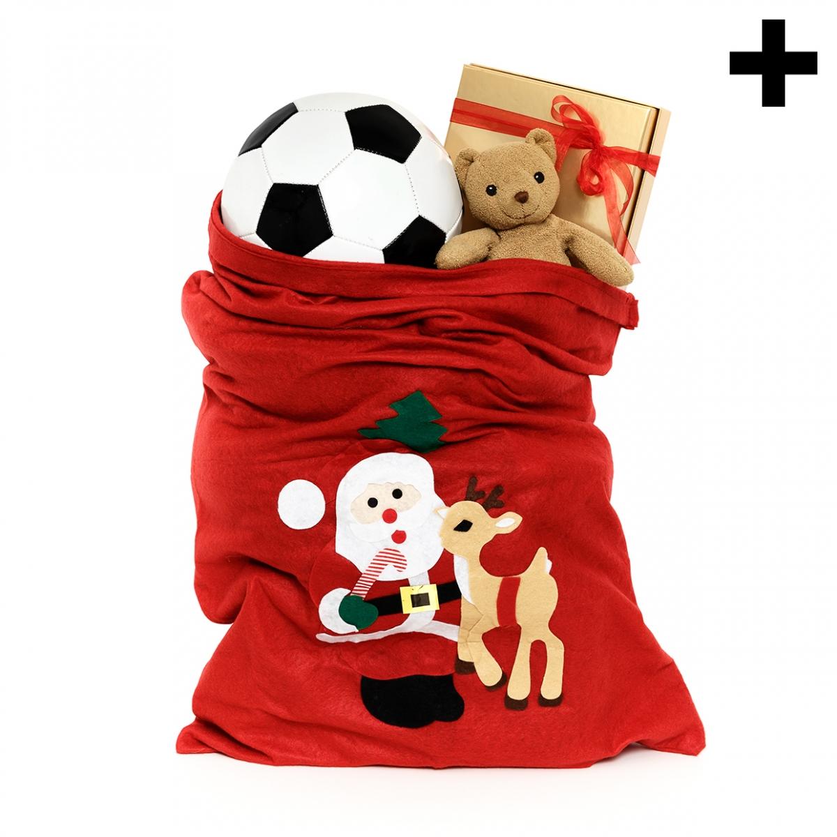 Imagen en la que se ve el plural del concepto saco de juguetes