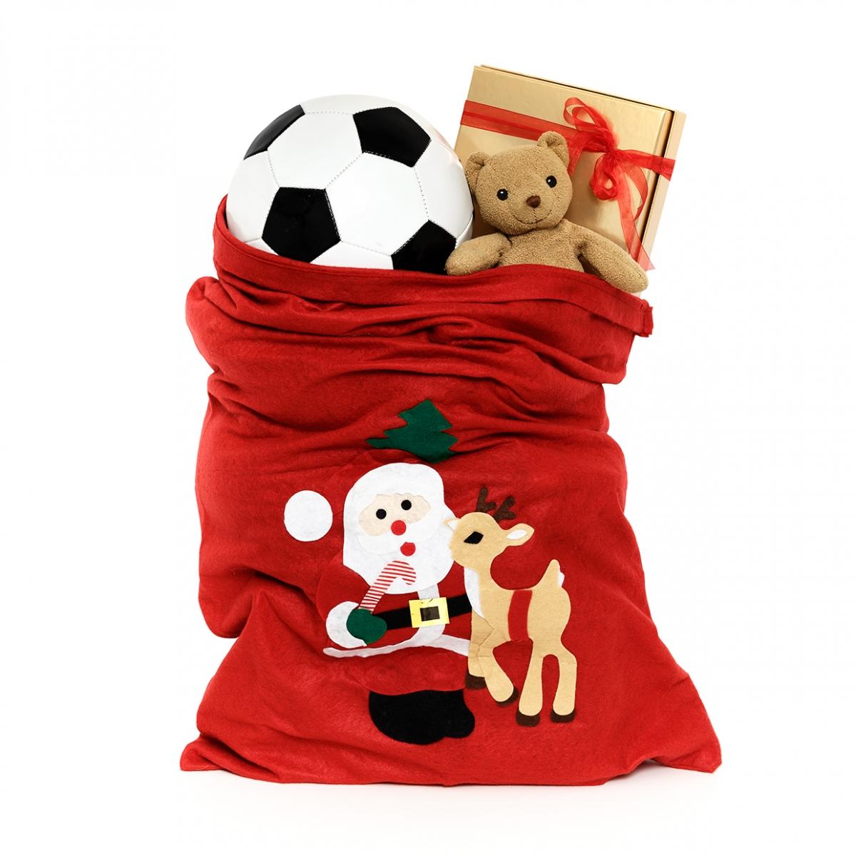 Imagen en la que se ve un saco con juguetes