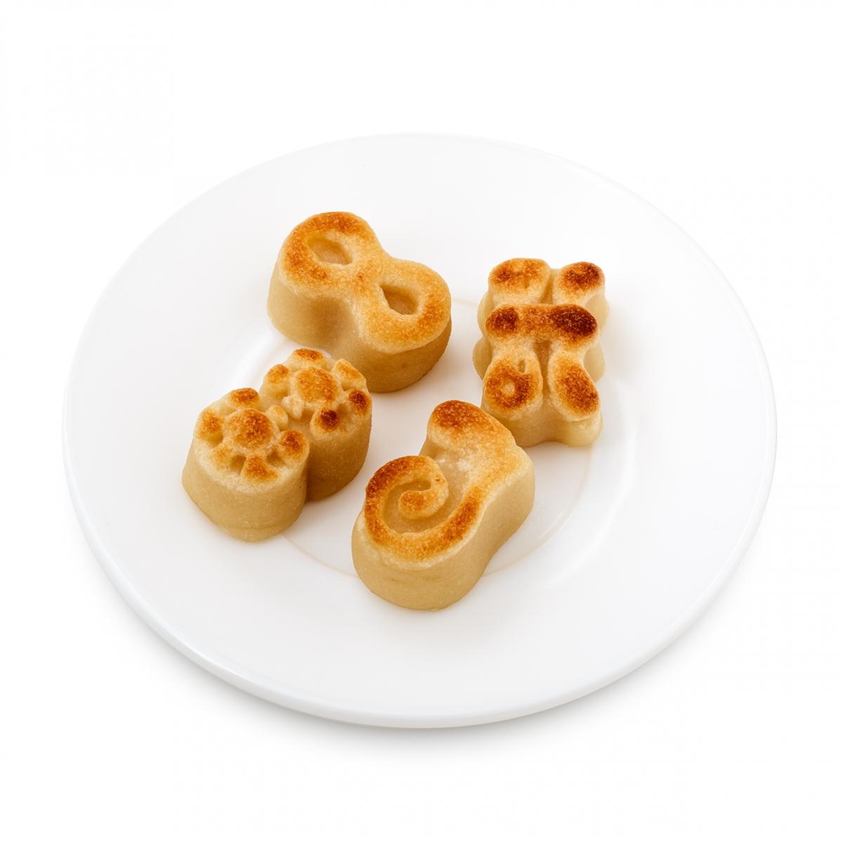 Imagen en la que se ve un plato con mazapanes