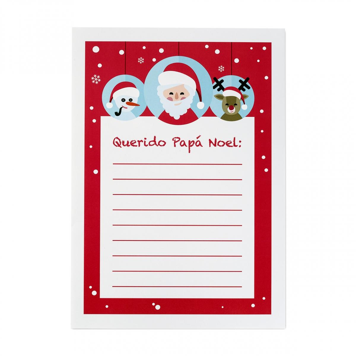 Imagen en la que se ve una carta a Papá Noel