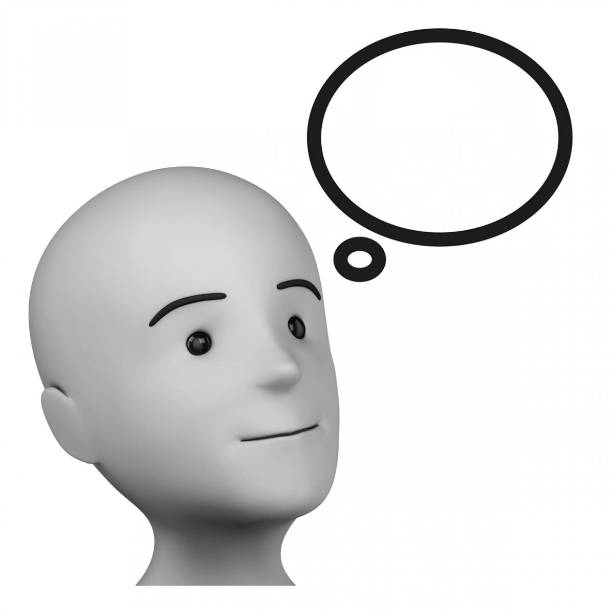 Imagen del verbo pensar