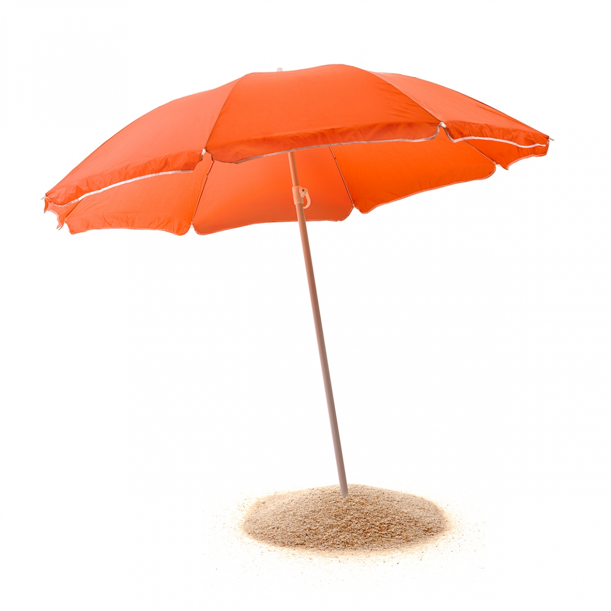Imagen en la que se ve una sombrilla de playa