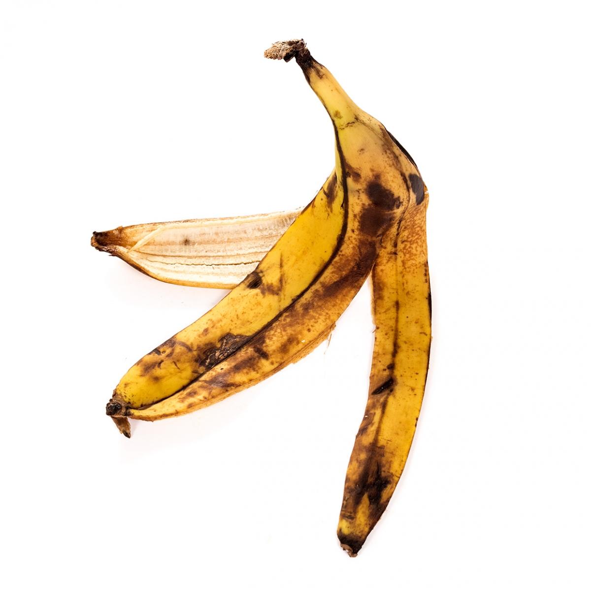 Imagen en la que se ve una cáscara de plátano