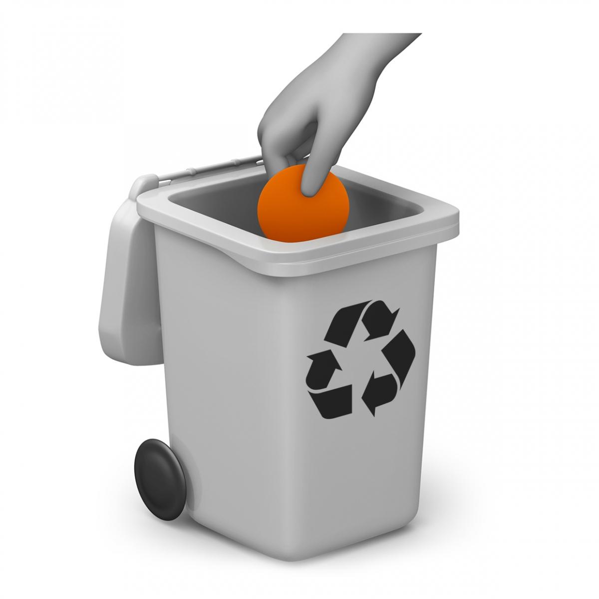 Imagen del verbo reciclar