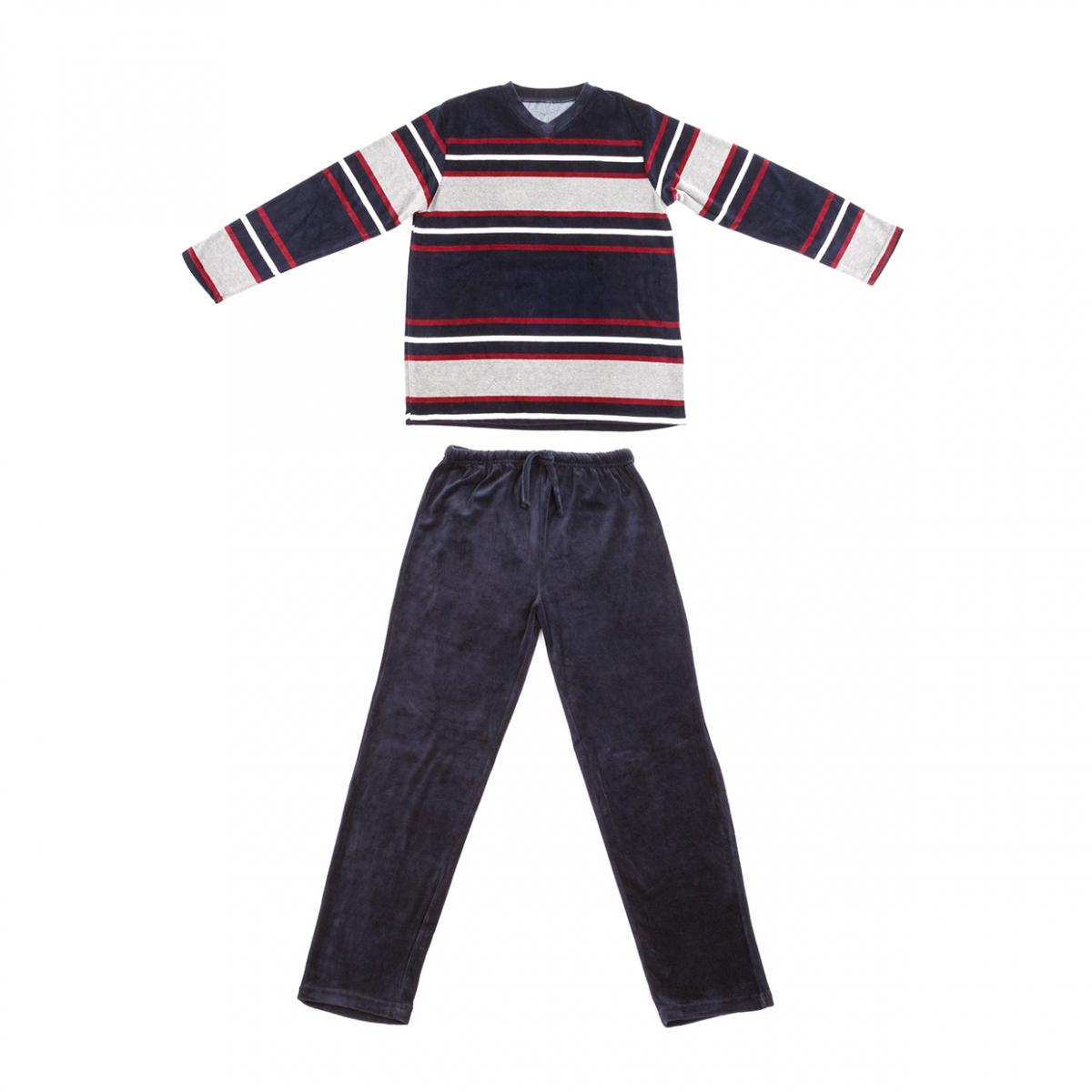 Imagen en la que se ve un pijama formado por parte superior y pantalón