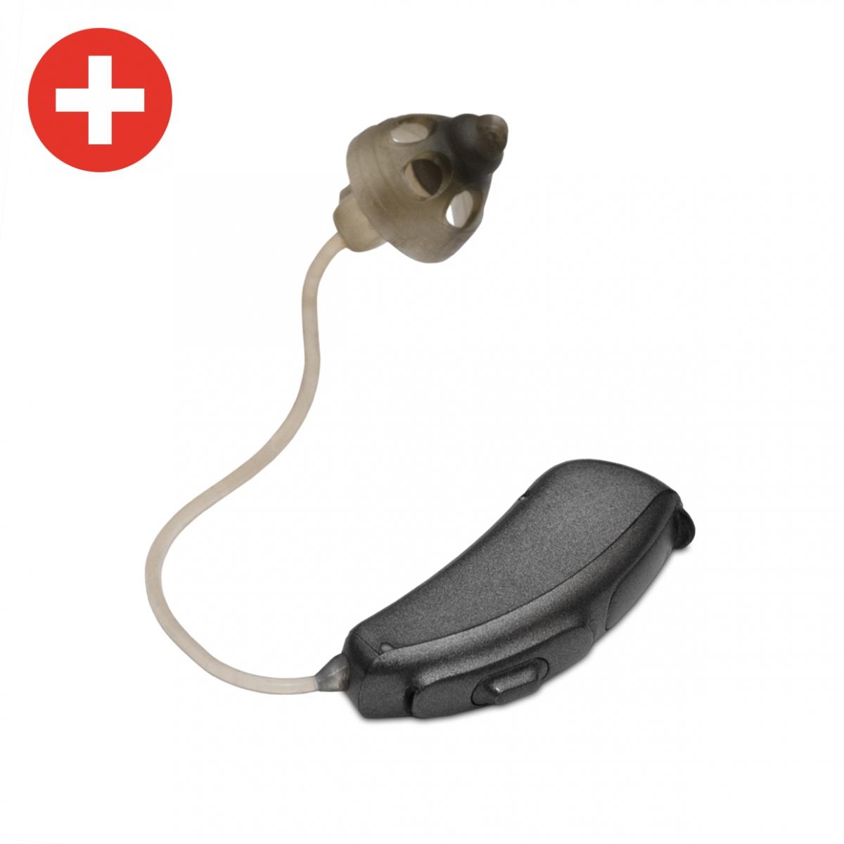 Imagen en la que se ve un audífono