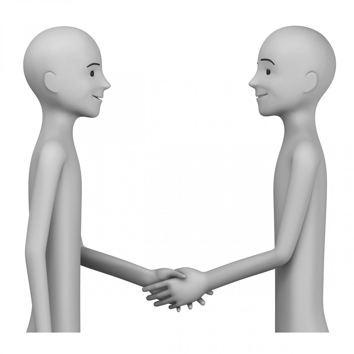 Imagen del verbo saludar