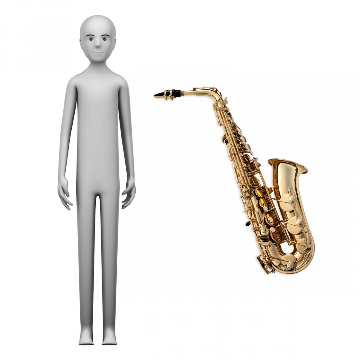 Imagen en la que se ve el concepto de saxofonista
